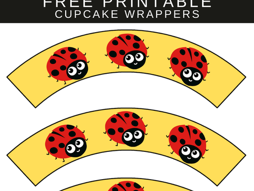 Ladybug Birthday Party Printables: FREE Cupcake Wrappers for Your Stunning Cupcakes
