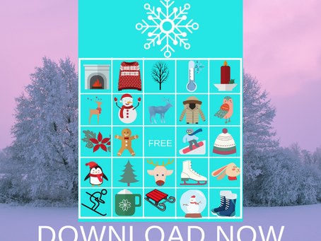 Winter Bingo | Winter Themed Party Game Idea | Winter Birthday Party Activity
