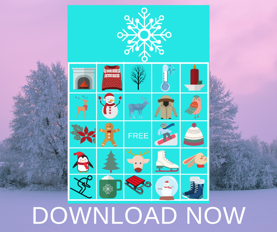 winter themed bingo game for a birthday party