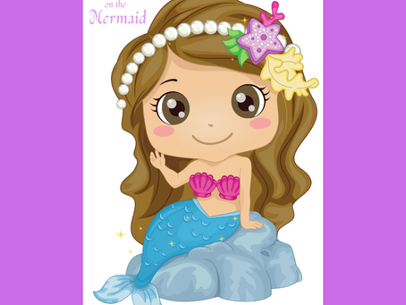 Mermaid Party Game: Pin the Smile on the Mermaid | Mermaid Themed Birthday Activity