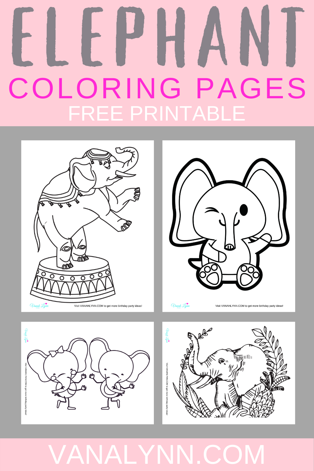 1st birthday party elephant activity ideas
