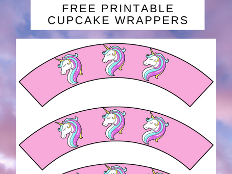 Unicorn Cupcake Wrappers | Free Printable Unicorn Party Decorations | Unicorn Birthday Party Ideas