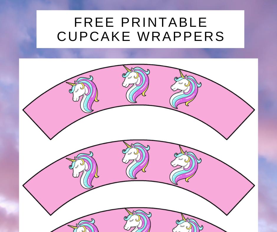 free printable unicorn cupcake wrappers