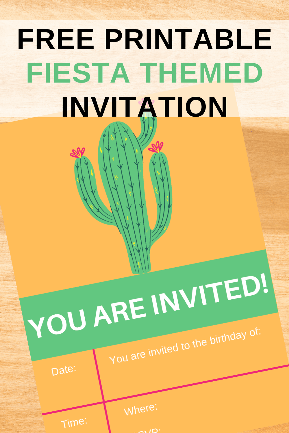 free fiesta birthday invitations