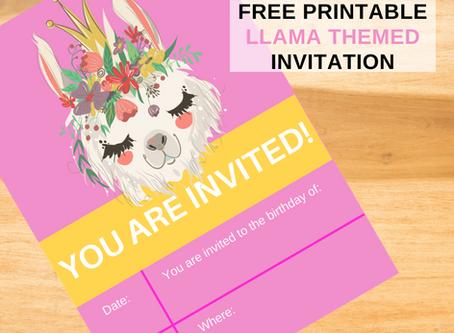 Llama Birthday Invitation   Freebie   Download Now