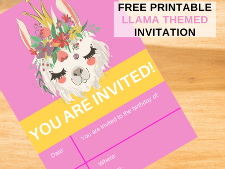 Llama Birthday Invitation | Freebie | Download Now