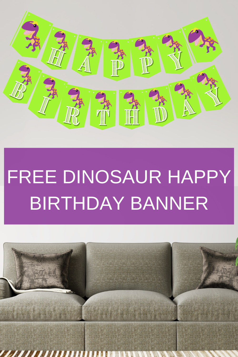 dinosaur birthday party banner for a first birthday party