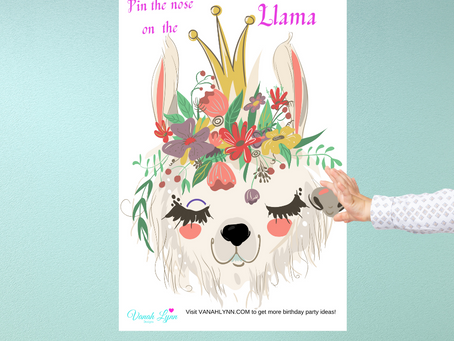 Pin the Nose on the Llama | Free Party Game | Download and Print Now