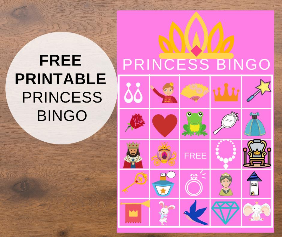 printable princess bingo game
