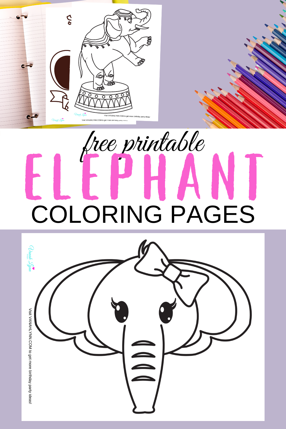 free printable elephant coloring sheets for a small child