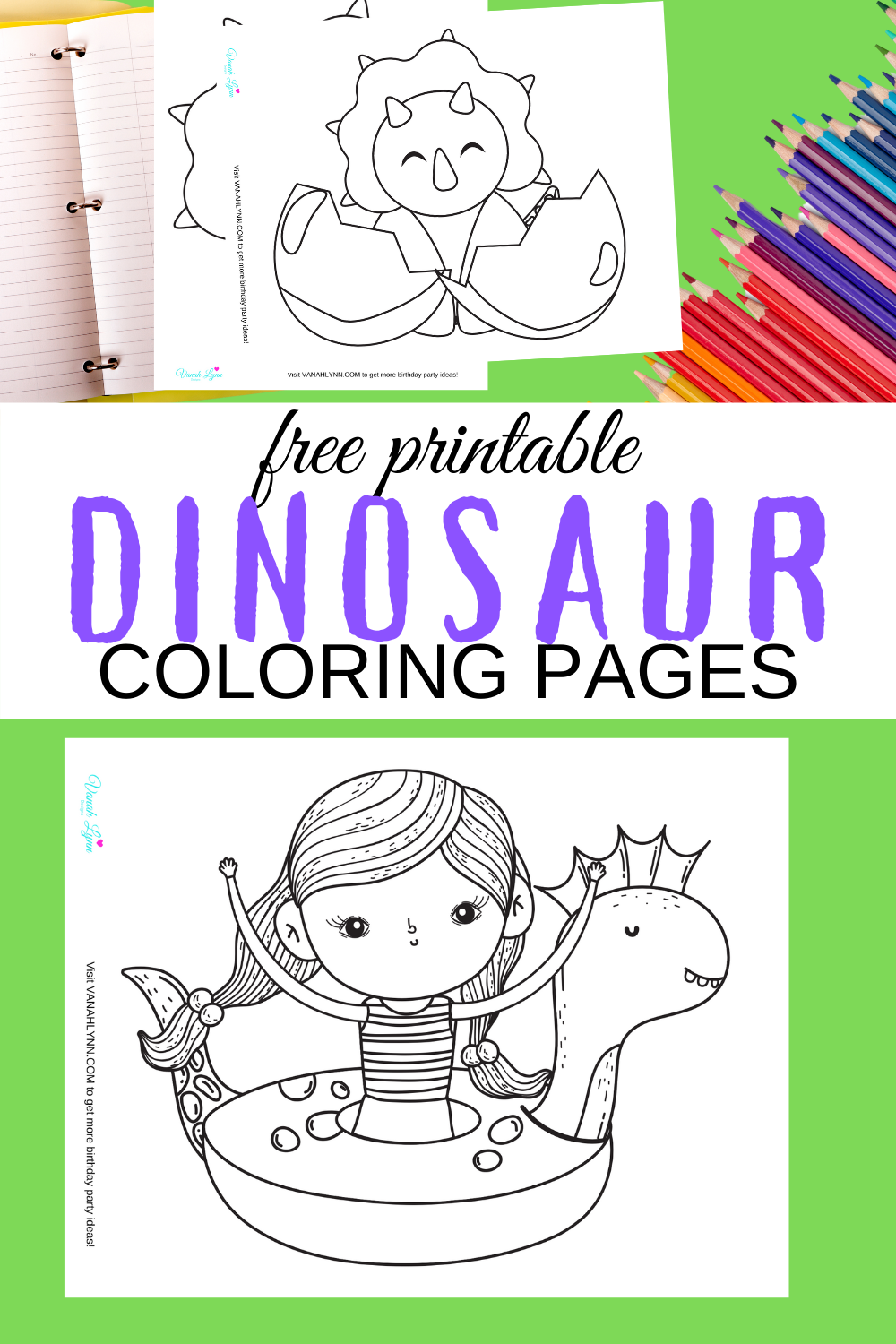 free printable dinosaur coloring sheets for a birthday party