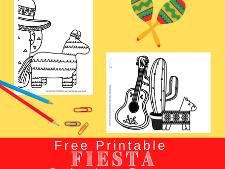 Fiesta Coloring Pages | Free Printable Fiesta Activity Sheets | Fiesta Themed Birthday Party Ideas