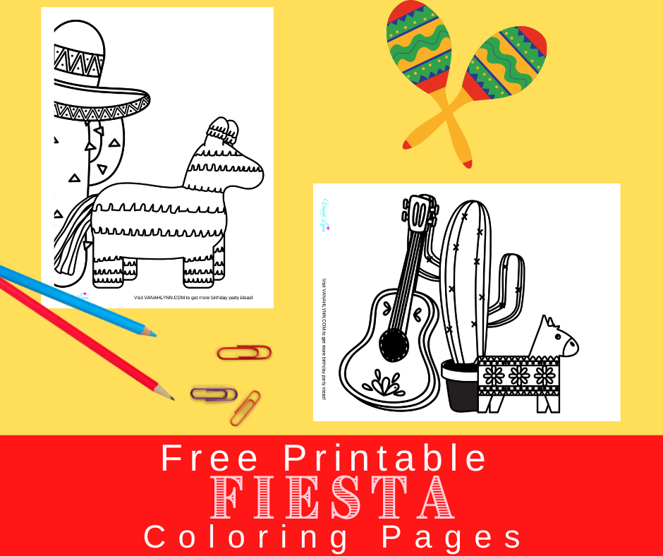 fiesta coloring pages for a fiesta birthday party