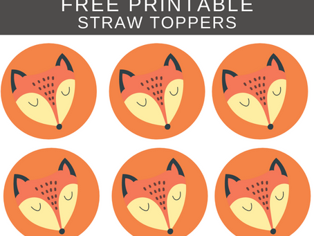 Rustic Straw Toppers | Free Printable Rustic Themed Birthday Party Ideas | DIY Rustic Decorations