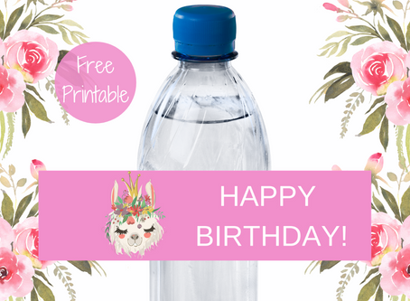 Llama Water Bottle Label | Free Download