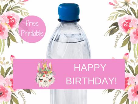 Llama Water Bottle Label | Free Download