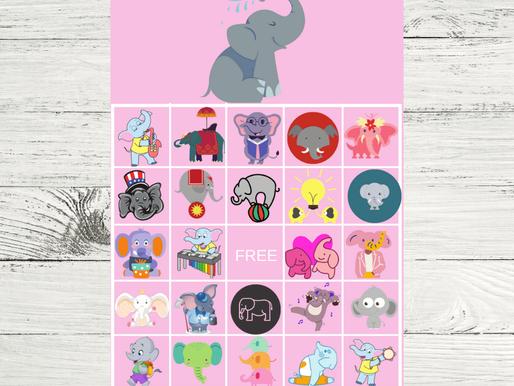 FREE Printable Elephant BINGO