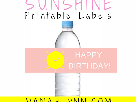 Sunshine Water Bottle Label | Free Printable Sunshine Birthday Party Ideas | DIY Party Decorations