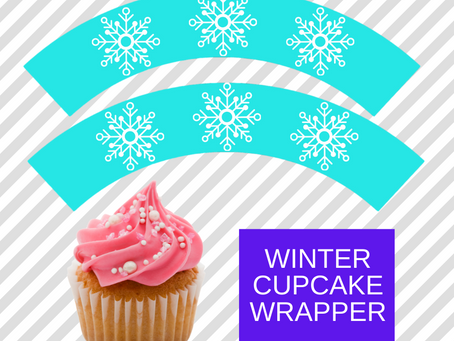 Winter Cupcake Wrappers | Free Printable Winter Themed Party Decorations | Winter Birthday Ideas
