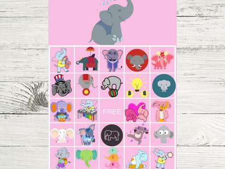 Elephant Bingo | Elephant Themed Party Game Idea | Elephant Birthday Party Activity