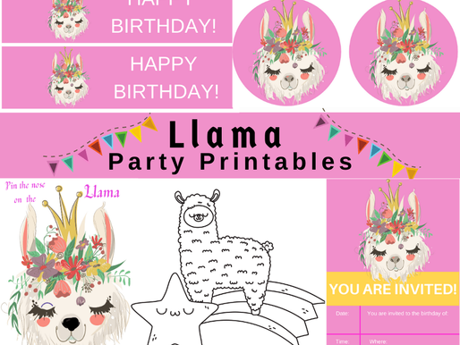 FREE Llama Birthday Party Theme Printables - They are too cute!