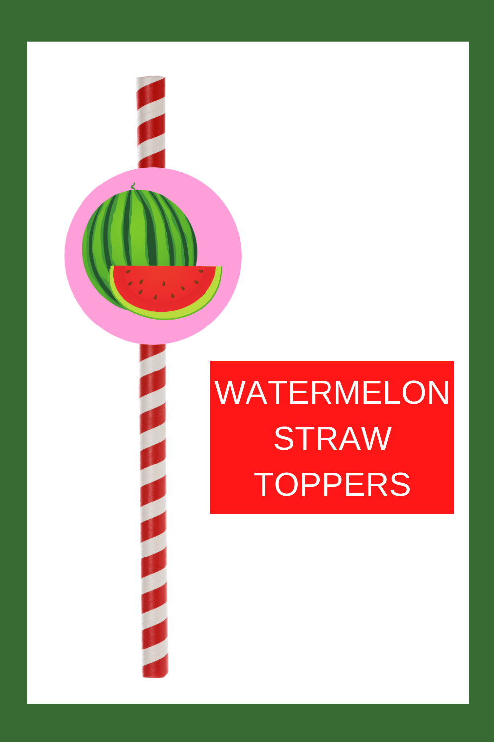 Free printable watermelon straw toppers are a fun and easy way to add a little extra fun to your 1st birthday summer themed birthday décor. Simply cut and print this free printable watermelon party idea. Then tape the circle to a fun straw. These can also be used as a cupcake topper. Be sure to save this cute watermelon cupcake idea for later use.  Head on over to our blog, VanahLynn.com!