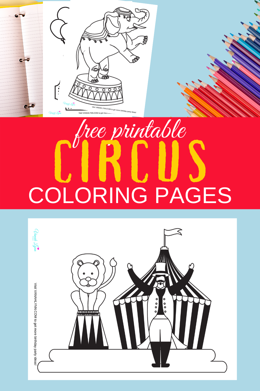 free printable circus coloring sheets for a preschooler