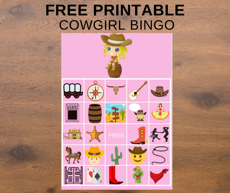 cowgirl themed bingo for birthday party