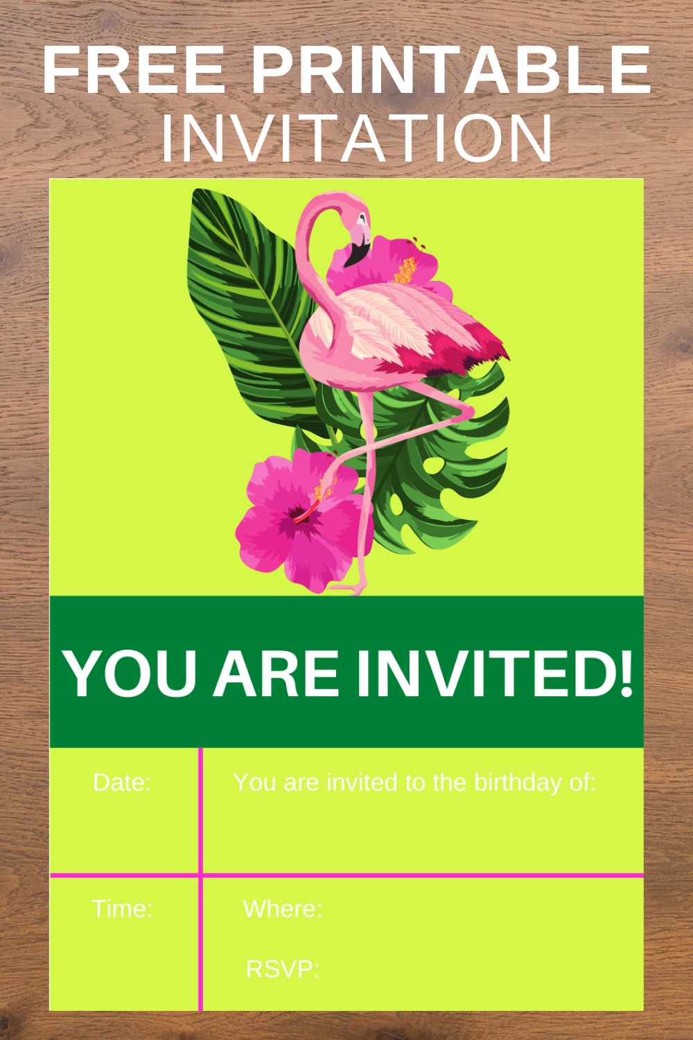 free download: first birthday party invitation card