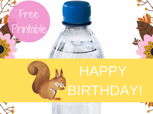 Woodland Water Bottle Label | Free Printable Woodland Animal Themed Birthday Party Ideas | DIY Décor