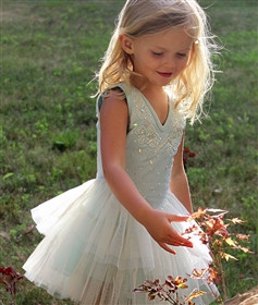 Spring dress on toddler girl