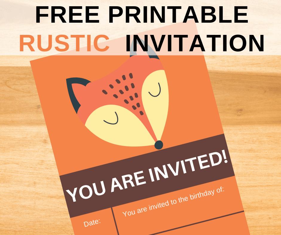 fox birthday party invitations