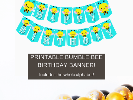 Bumble Bee Happy Birthday Banner and Bumble Bee Alphabet Banner | Bumble Bee Party Decorations