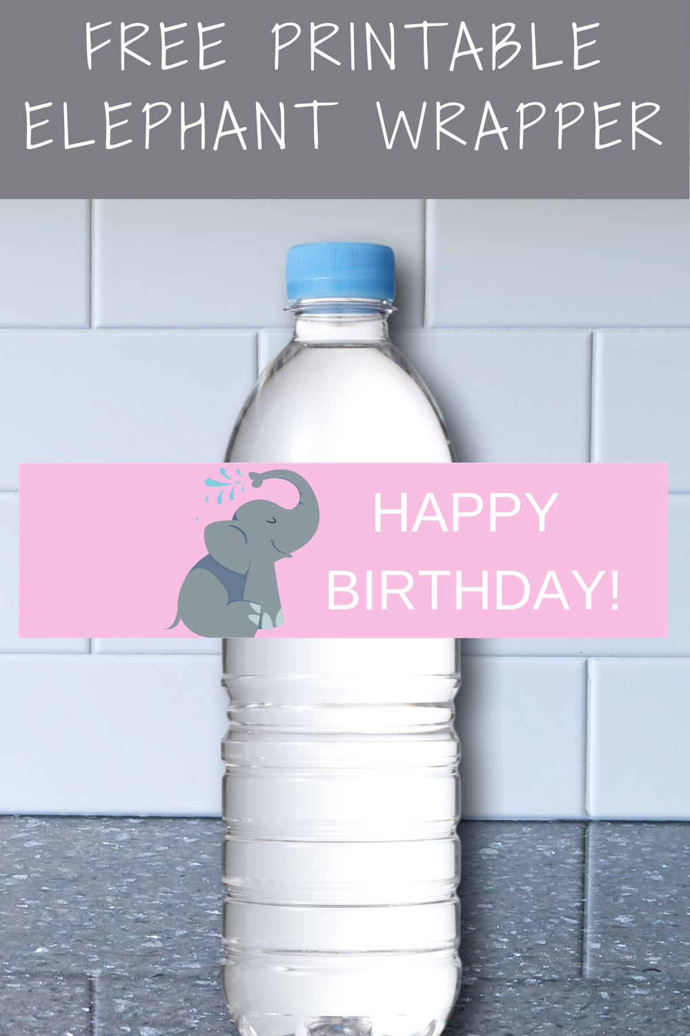 free printable elephant birthday party decorations