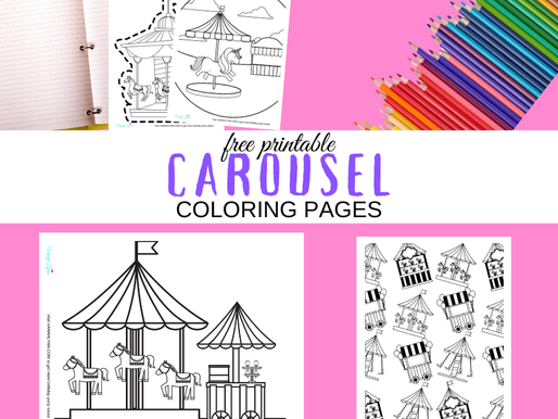 10 Carousel Horse Coloring Pages: FREE to Print and Color