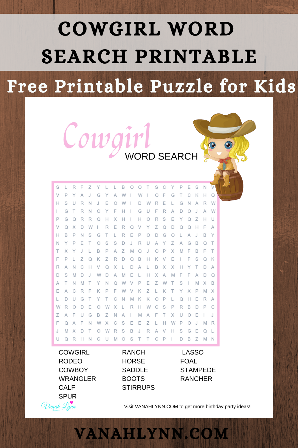 cowgirl birthday party games for kids