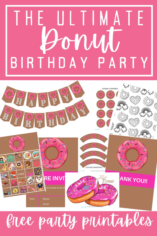 doughnut birthday party free printable decorations