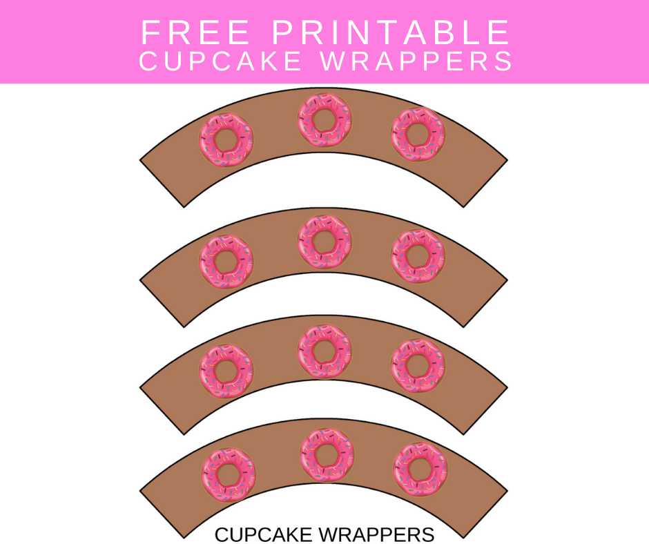 donut girl birthday party ideas cupcake wrappers