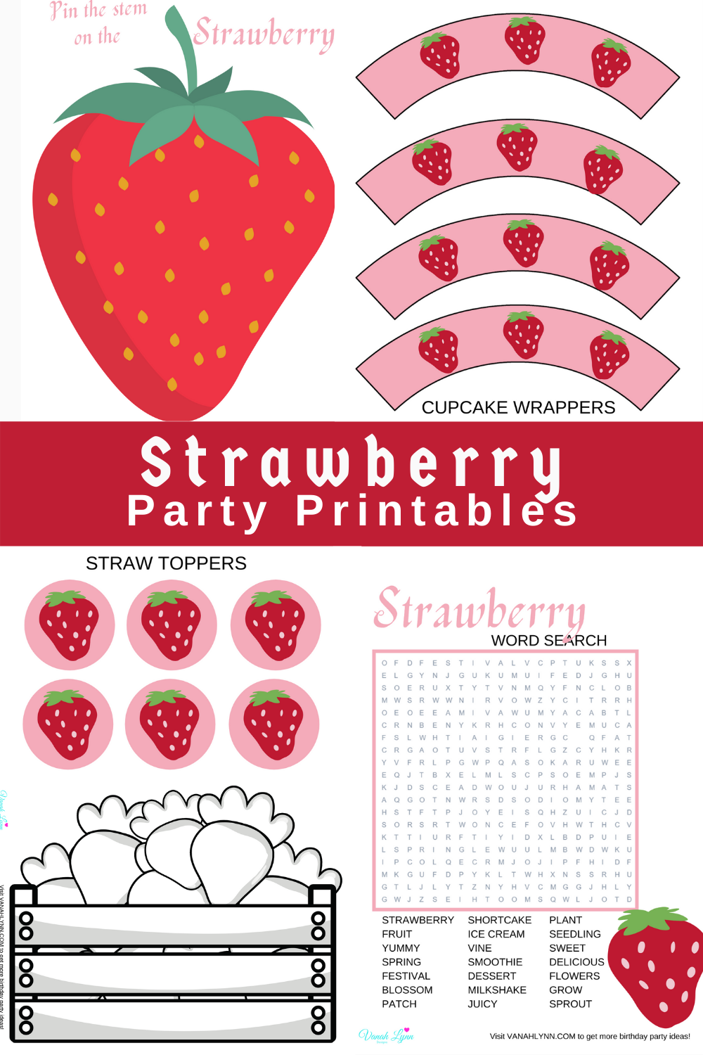 pink birthday party free printables for kids birthday