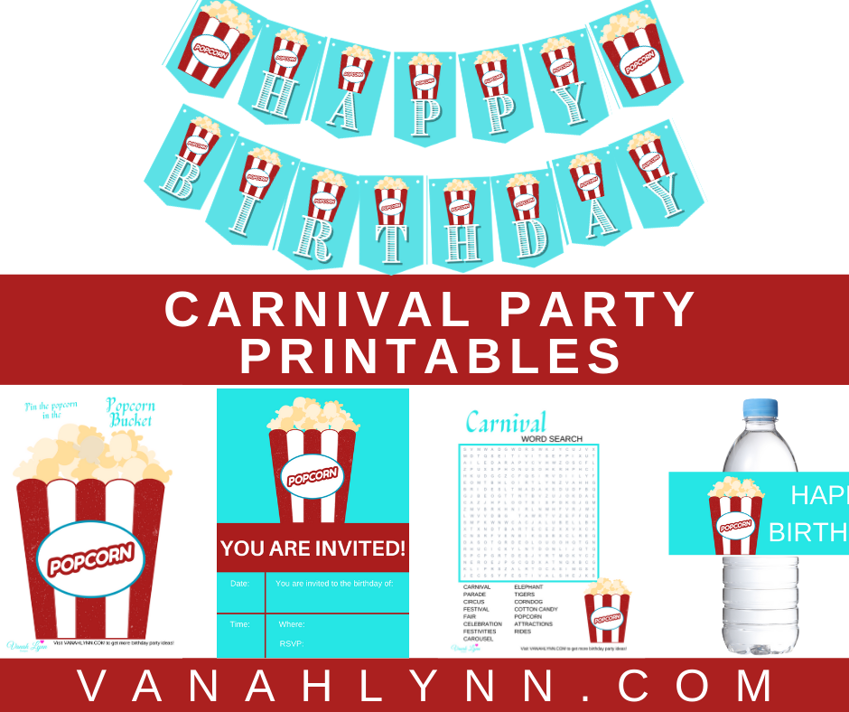 free printable carnival party kit
