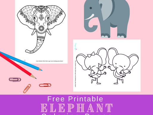 10 Printable Elephant Coloring Pages -FREE