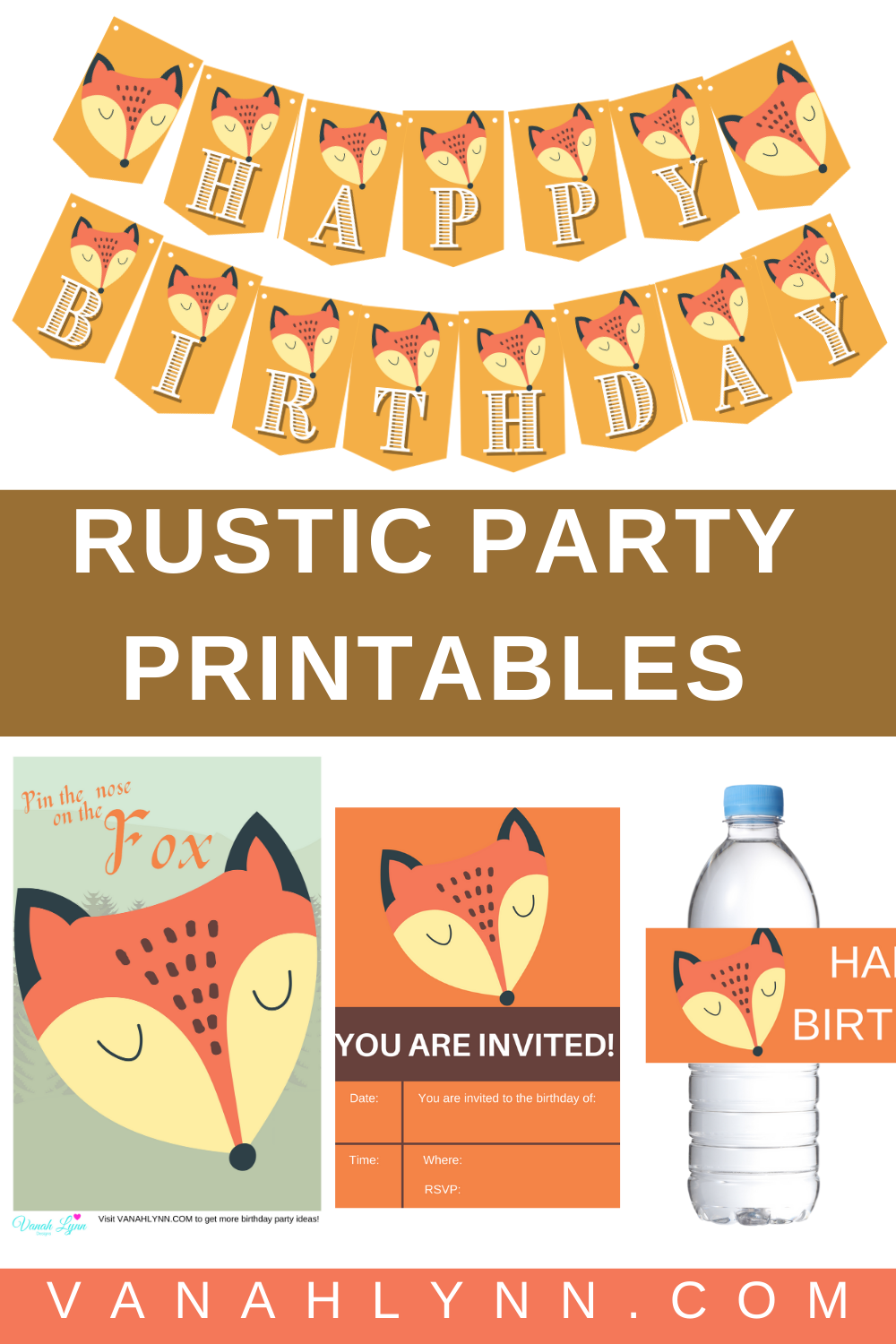 rustic 1st birthday party for kids