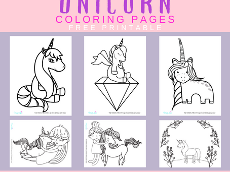 Unicorn Coloring Pages | Free Printable Unicorn Activity Sheets | Unicorn Birthday Party Ideas
