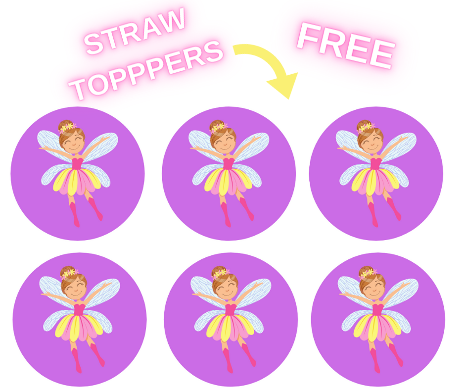 free printable fairy garden straw toppers