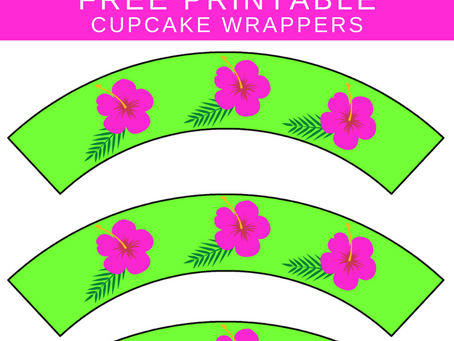 Tropical Cupcake Wrappers | Free Printable Tropical Themed Party Decorations | Tropical Birthday