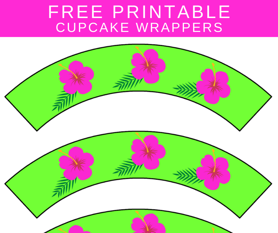 free printable tropical cupcake wrappers