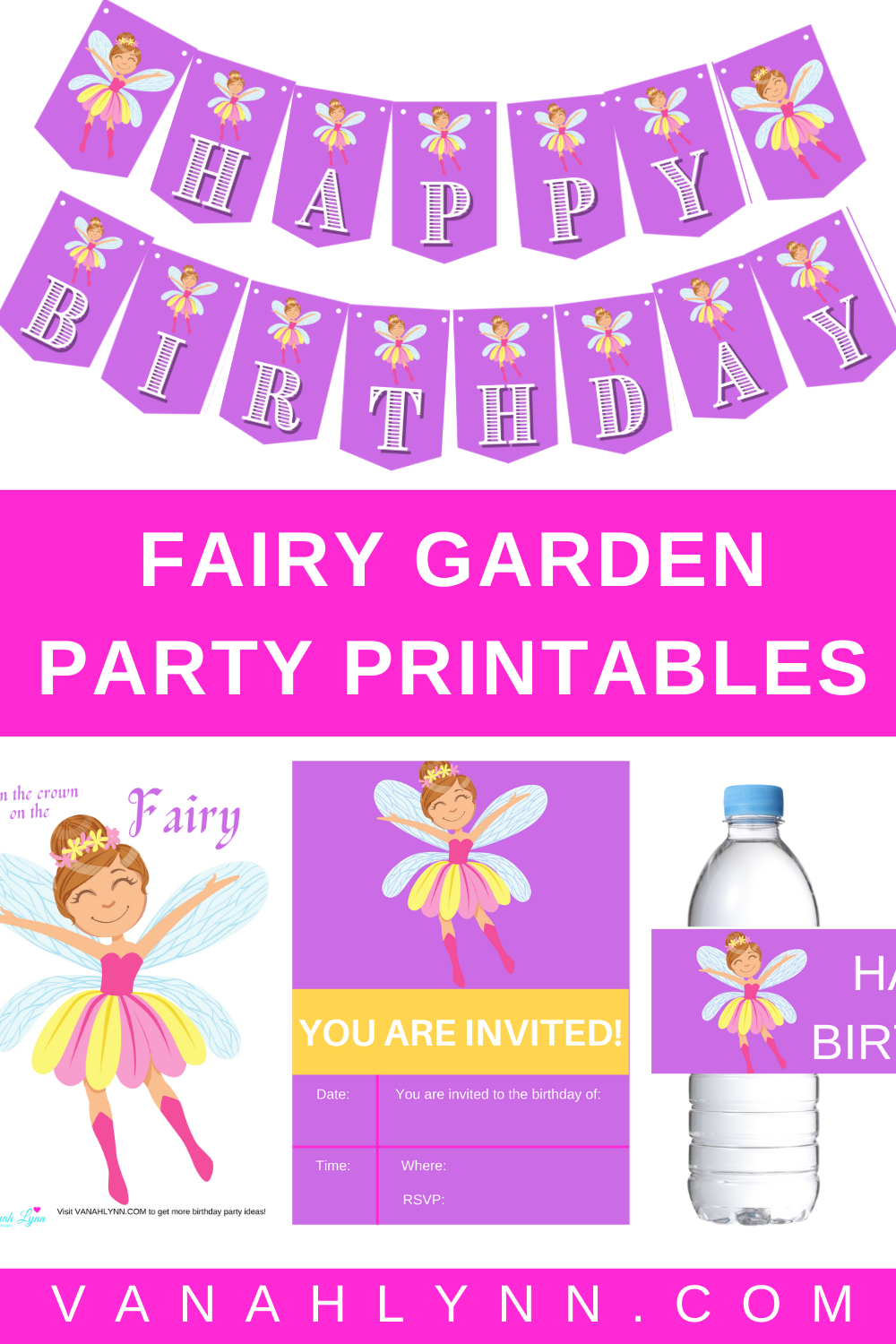 fairy first birthday party decorations ideas and free printables