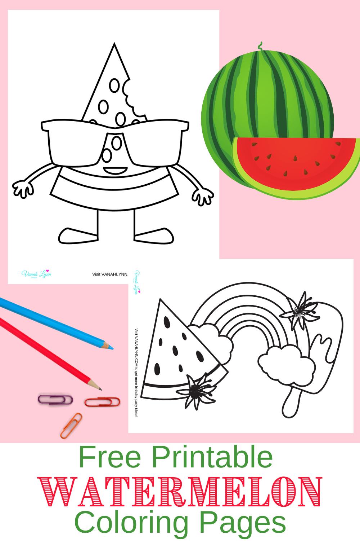 free printable watermelon activity sheets