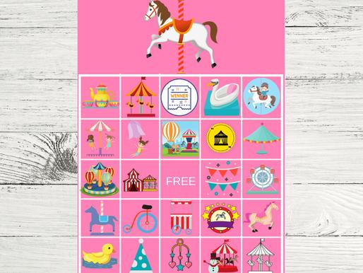 Carousel BINGO Free Printable