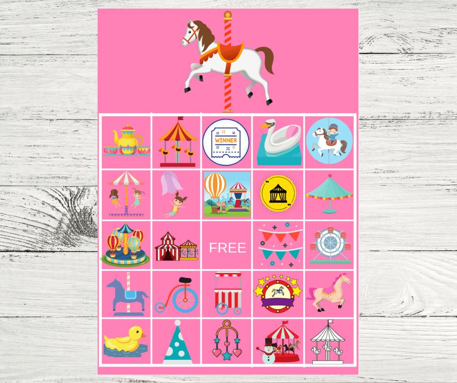 bingo game free printable